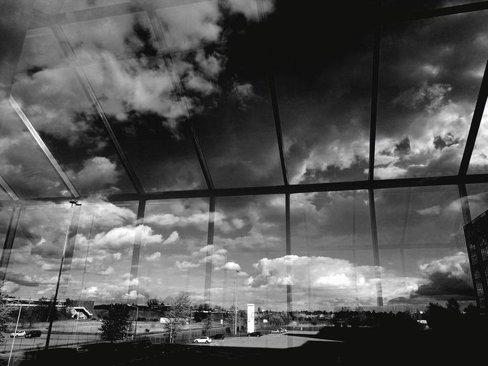 Cloud - Sky City Sky Outdoors Nature Blackandwhite Illusion Reflections Awesome Low Angle View