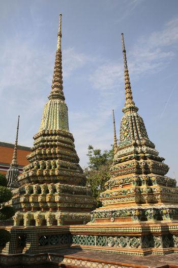 Low angle view of pagoda