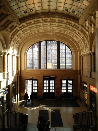 Window Indoors  Day Architecture Bahnhof Leipzig Germany Rail Station Fenster Bahnhofshalle