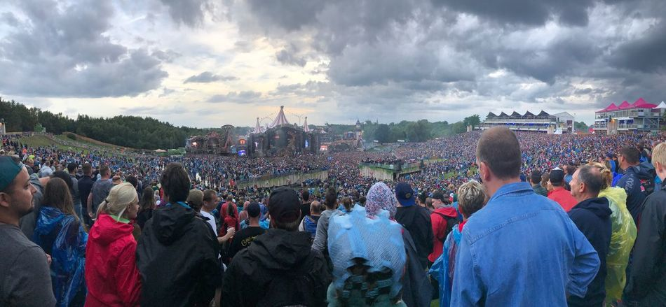 EyeEm Selects Tomorrowland Festival Festival Season Main Stage People People Watching People Dancing People Partying Party Dj Edm Dance Techno Trance Belgium Panorama Panoramic Photography Panoramic Cloud - Sky Clouds