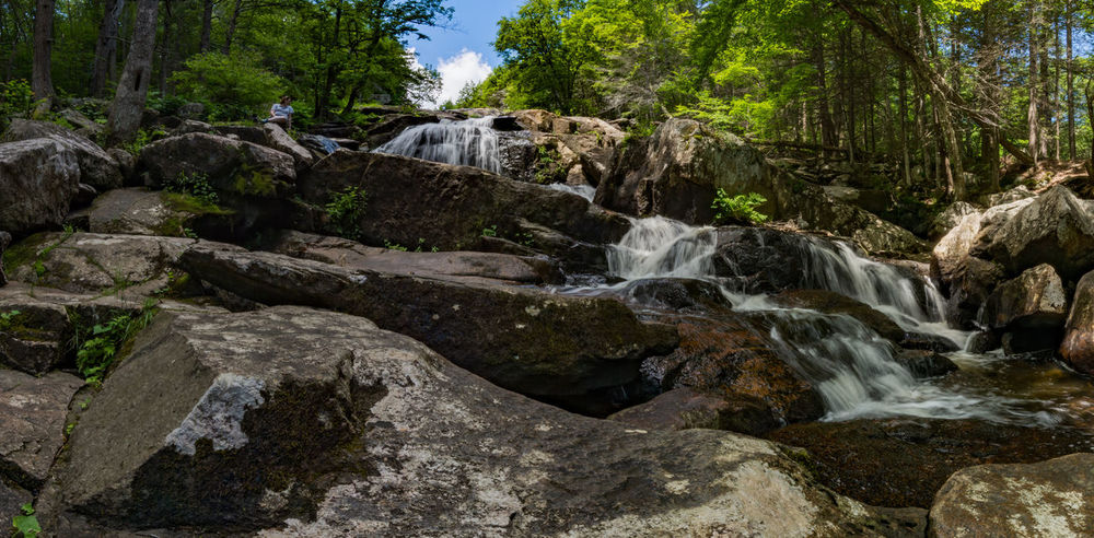 Beauty In Nature Day Glendale Falls Middlefield, MA Nature No People Outdoors Rock - Object Scenics Sky Tranquil Scene Tree Water Waterfall