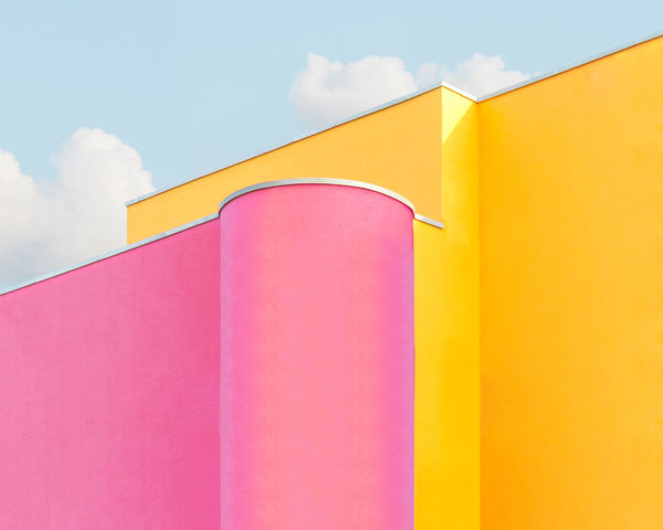 Yellow Built Structure Architecture Cloud - Sky Sky No People Building Exterior Day Multi Colored Pink Color Low Angle View Building Wall - Building Feature Outdoors Red Orange Color Nature Pattern Close-up Shape Pastel Façade
