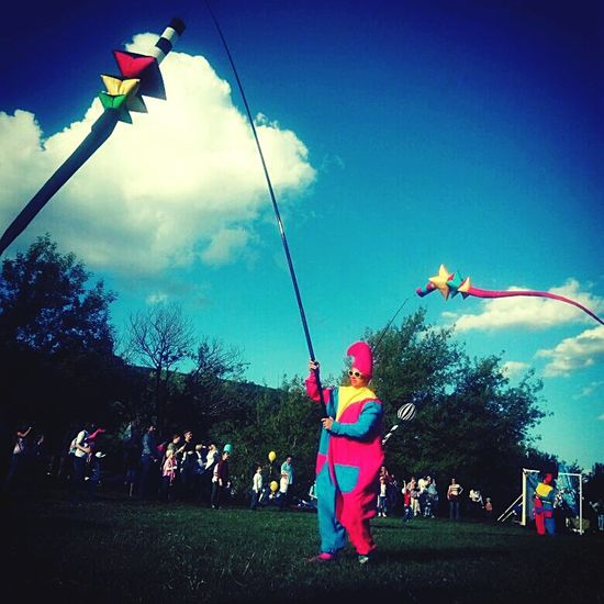 Arts Culture And Entertainment People Cloud - Sky Celebration Outdoors Multi Colored Zadonsk Kite Flying