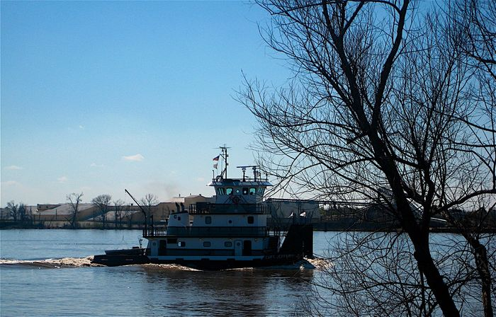 Tugboat Mississippi Summer Louisiana Commerce Landscape_Collection USA Boat New Orleans