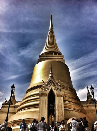 Wat Phra Kaeo Bangkok Thailand Ancient Architecture Buddhism Building Exterior Cloud - Sky History Old Pagoda People Place Of Worship Religion Royal Sky Temple Temple Of Royal Thai Architecture Thai Art Tourism Travel Destinations Wat Phra Kaeo