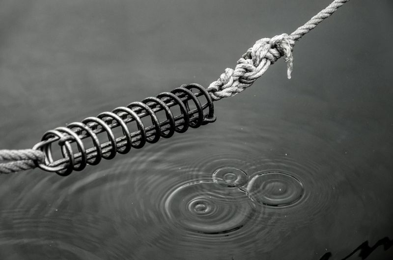 """Drops"" Port Portlife Black & White Shades Of Grey Ropes Mediterranean  Drops Water_collection Getting Inspired"