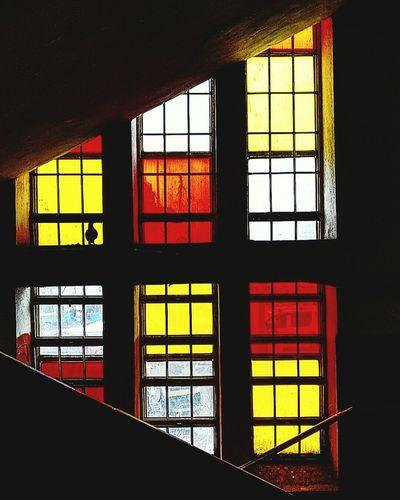 Glass - Material Window Architecture Geometric Shape Architectural Feature Multi Colored