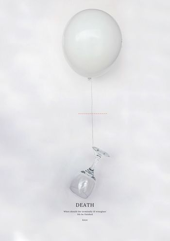 Death Balloon Indoors  Helium Balloon No People Creativity Mid-air White Color Inner Power EyeEmNewHere