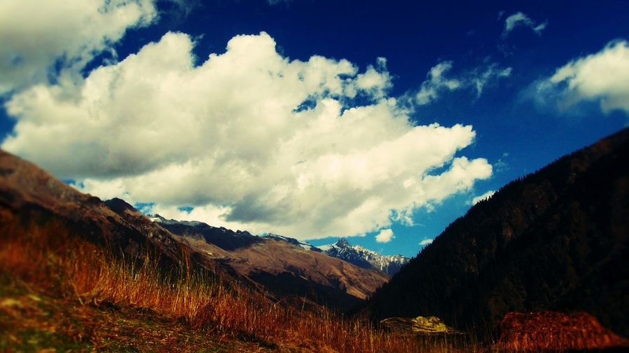 Landscape Malana Magic Valley Blue Sky Cloudandsky Travel Photography Himanchal