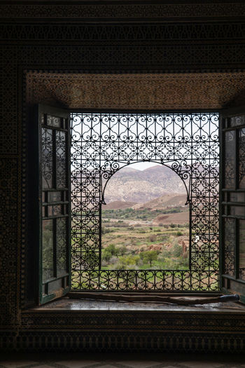 Architecture Built Structure Window No People Day Building Nature Tree Plant History The Past View Ironwork  Filigree Morocco Atlas Mountains Village