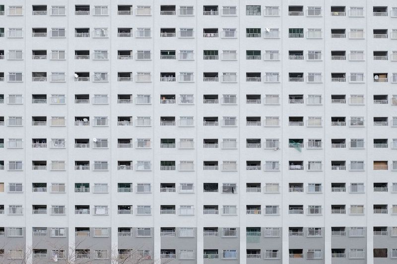 Building Exterior Pattern Built Structure Repetition Architecture Window In A Row Full Frame No People City Building Day