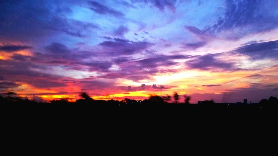 Gradual at evening Gradual Purple Orange Evening Trafic Jam