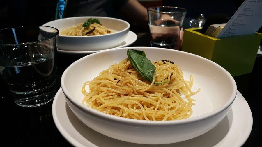 Aglio Olio on a lovely Sunday Foodgasm