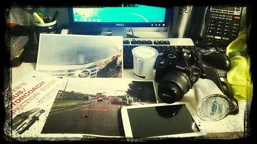 It's Business Time My desk, office, graveyard shift. The life of a DOT traffic/accident highway inspector