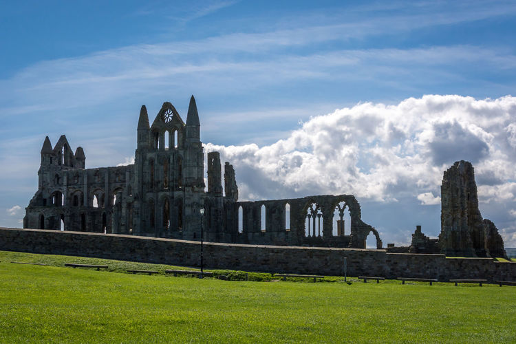 Sky And Clouds Whitby Abbey Ancient Architecture Building Exterior Built Structure Cloud - Sky Clouds Day Grass History History Architecture Nature No People Old Ruin Outdoors Ruin Sky The Past Travel Destinations