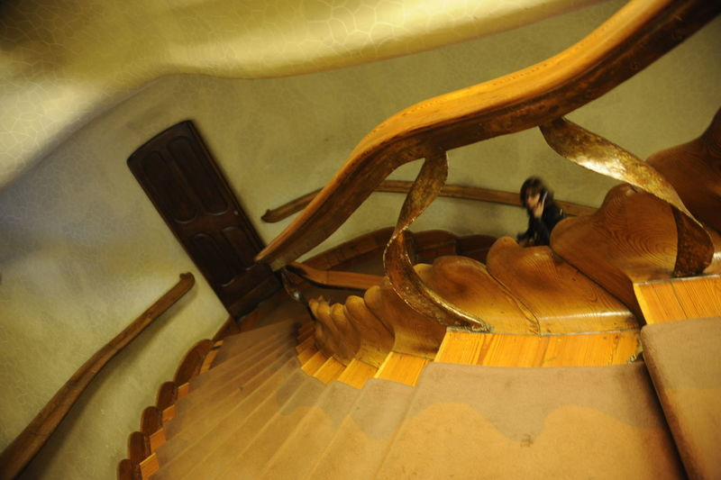 Day Gaudi Gaudi #barcelona Gaudi Stairs Indoors  No People Organic Shapes Staircase Wood - Material