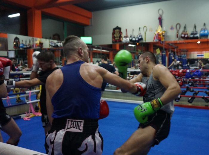 sparring session with Samo Petje Slovenia Zagreb, Croatia Boxing - Sport Boxing Glove Boxing Ring Competition Gym Indoors  Jasmin Bajrović Kickbox Training Kickboxing Men Punch Punching Samo Petje Sparring Session Sport Sports Team Sportsman