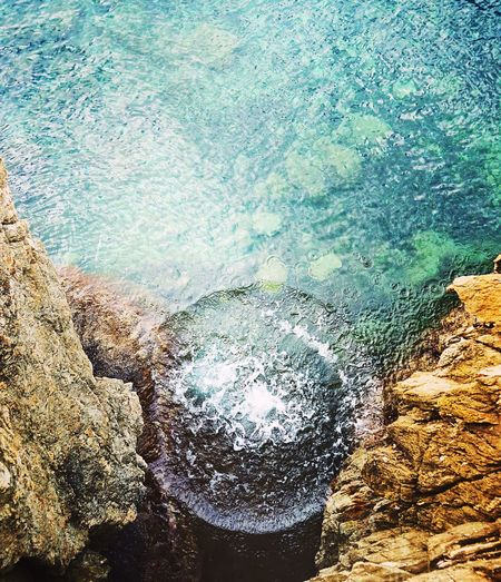 💦 Rock - Object Water Sea Nature No People Wave Day Beauty In Nature Beach Outdoors Power In Nature Colorful Travel Côte D'Azur Summer Close-up Wanderlust France Sun Jumping Sea And Sky Hot Spring Island Discover  Travel Photography