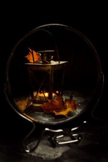 StillLifePhotography Still Life Darkphotography Autumn Candle Candlelight Candl Black Background Close-up