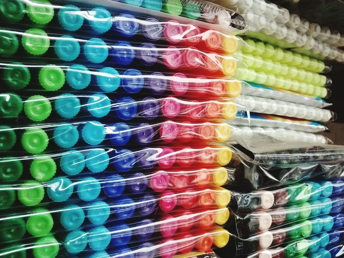 Be colourful. EyeEm Selects Mobilephotography PhonePhotography Colors Childhood School Art Drawing Multi Colored Neat Choice Variation Arrangement Full Frame For Sale In A Row Retail  Close-up Shelves Shelf Colorful Variety Shop Colored Pencil Display