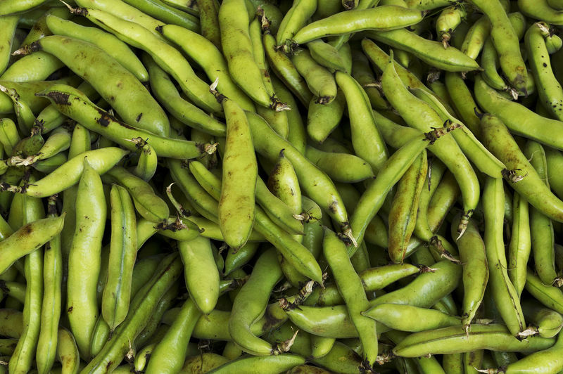 Full Frame Shot Of Green Beans For Sale At Market
