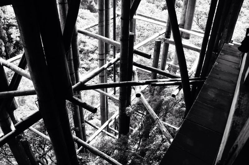 Wood structure for temple maintenance. Blackandwhite Structure Wood Kiyomizu-dera