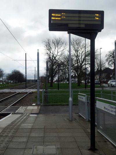 Tramway Tram Stop Wintertime Travel