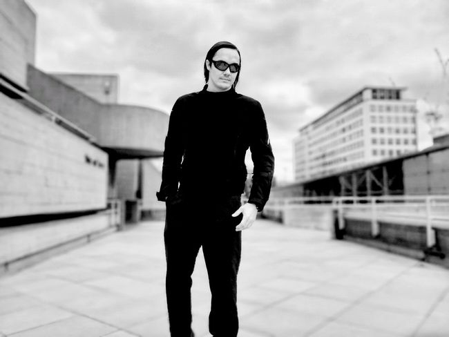 Man in black Man In Black One Person One Young Man Only City Life Men EyeEm LOST IN London Cool Style Walk Tall Confidence  Outdoors Urban London Black And White