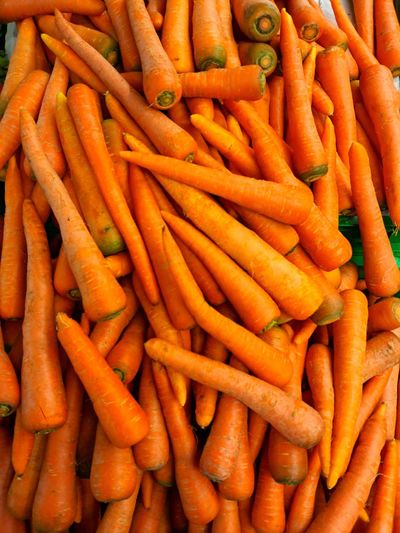Full frame shot of carrots at market stall