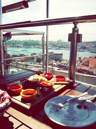 Breakfast at the Rooftop ! Istanbul Turkey