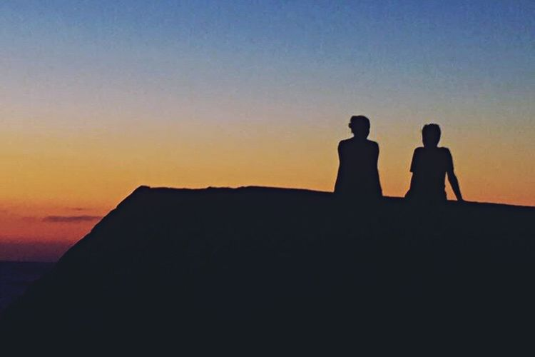 The Week On EyeEm IPhoneography Silhouette Sunset Two People Togetherness Real People Nature Lifestyles Men Scenics Friendship Beauty In Nature Outdoors Bonding