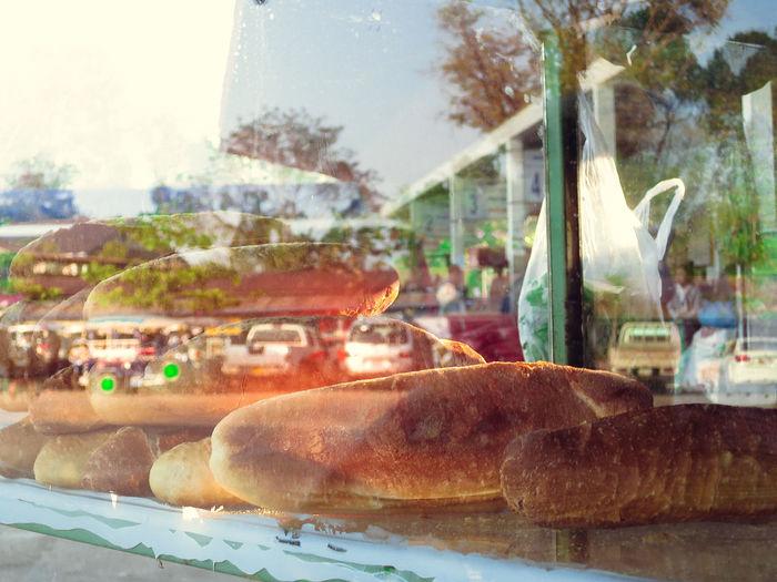 Bread Bread Roll Breakfast Day Food No People Reflections Scene