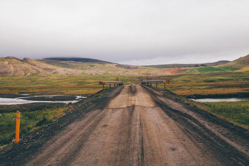 Bridge Clouds Green Iceland Landscape Mud Muddy Nature Outdoors Outside River Road Roadtrip VSCO Vscocam