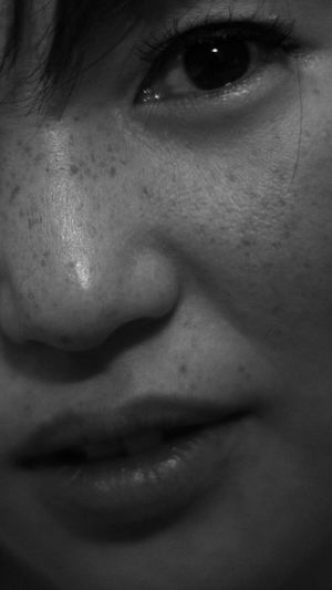 Close-up portrait of smiling man