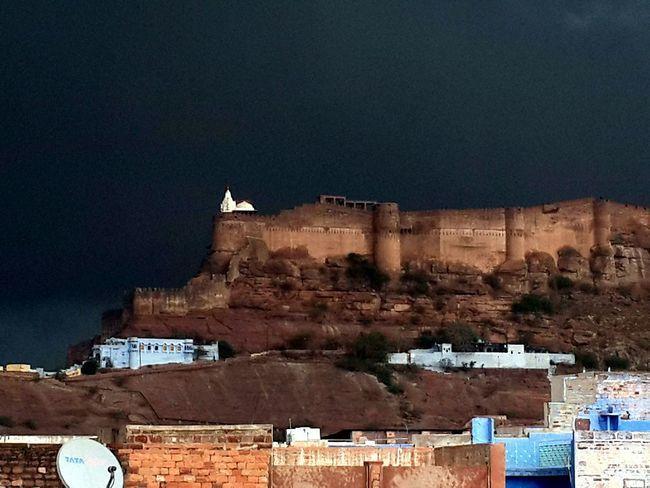 From The Rooftop Dark Rainy Day Mehrangarh Fort. Discovering Great Works