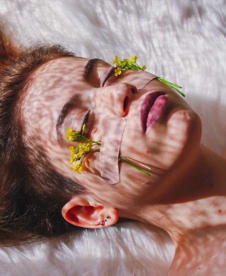 just woman Woman Portrait One Person Headshot Portrait Human Body Part Young Adult Lying Down Women Eyes Closed  Human Face Body Part Adult Real People Nature Beauty Relaxation Floating On Water Beautiful Woman Close-up Young Women Indoors  The Portraitist - 2019 EyeEm Awards The Portraitist - 2019 EyeEm Awards