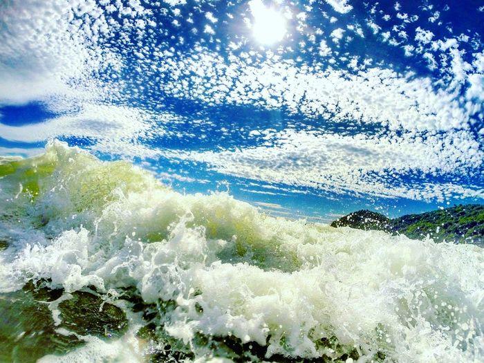 Mar Praia Onda CeuAzul Dialindo Santacatarina  Governadorcelsoramos Amomuito Naturelovers