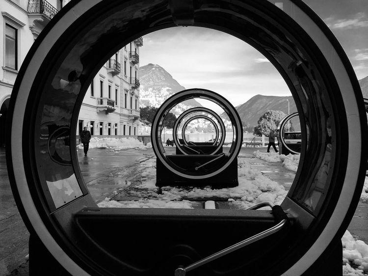 Loop Inception City EyeEm Best Shots View Circle Bnw Panorama Blackandwhite Snow Exposition Cinematography Art Loop Switzerland Lugano