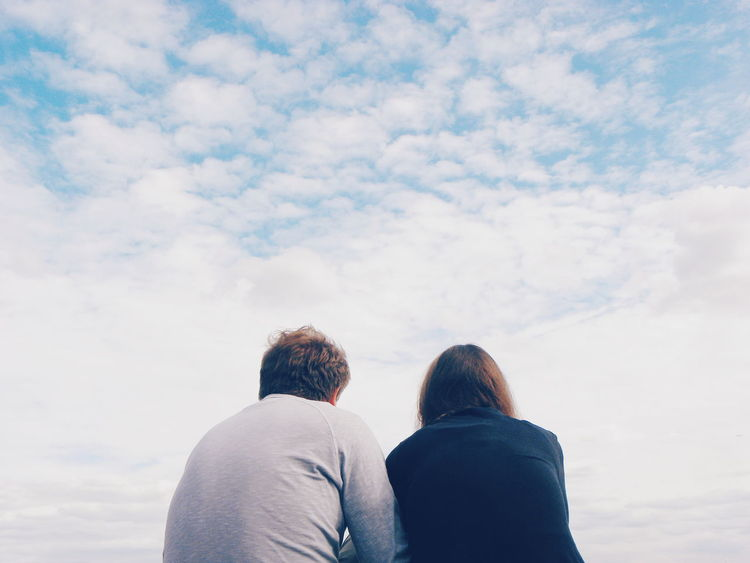 Two People Cloud - Sky Winter People Togetherness Day Leisure Activity Warm Clothing Friendship Love In The Air Couple Talking To Each Other Man And Woman Copy Space Outdoors Adults Only Talking Intimate Moment Feeling Loved Sky Conversation Day Out