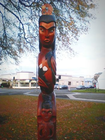 Sculpture Maori Culture Real Love  Arts Culture And Entertainment Real Love  Individuality EyEmNewHere Street Art Outdoors Autumn🍁🍁🍁 The Street Photographer - 2017 EyeEm Awards