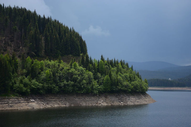 Been There. Green Lake Oasa Stormy Weather The Week On EyeEm Transylvania Travel Photography Traveling Dam Forest Grey Sky High Contrast Lake Landscape Mountain Range Pinetrees Transalpina