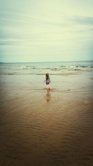 Beautiful Niece Enjoy Life Sea Ocean