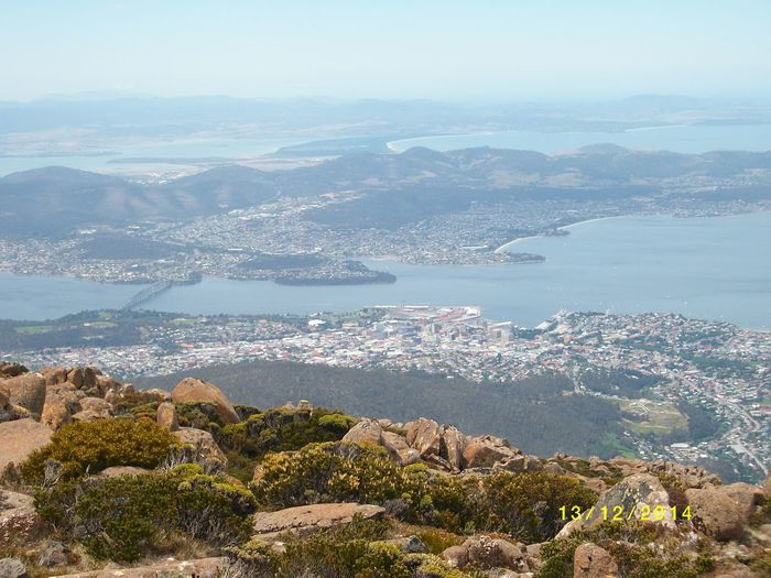 Lookout Mount Wellington Aerial View Architecture City Cityscape Coastline Day Hobart Hobart Tasmania Horizon Over Water Mountain Mountain Range No People Outdoors Scenics Sea Sky Travel Destinations Water