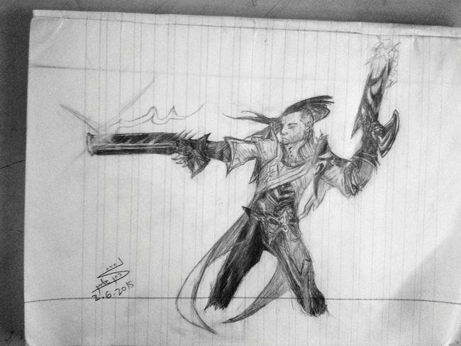 Lucian - LOL League Of Legends Drawing Bored History Class Art