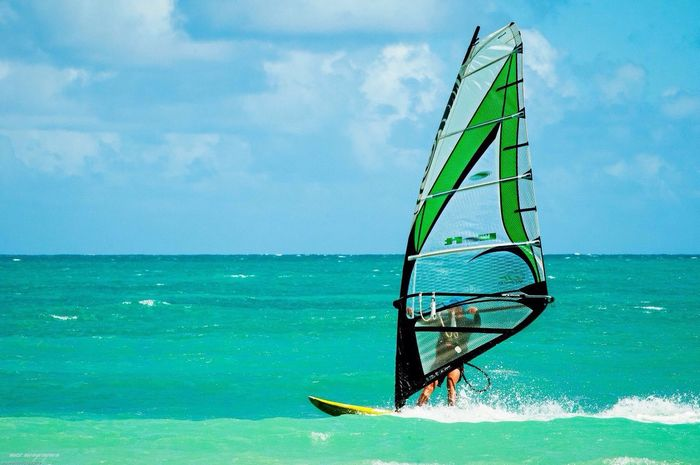 Surf Horizon Over Water Sky Sea Beauty In Nature Waterfront Water Nautical Vessel Windsurfing Adventure Cloud - Sky Sport People Beauty In Nature Guadeloupe Guadeloupe Guadeloupe-F.W.I Guadeloupeislands Guadeloupe One Man Only Beach
