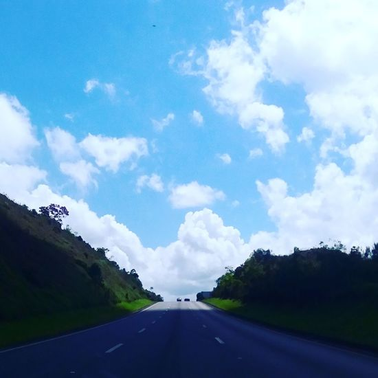 Paradise. Travel Road Cloud - Sky Sky The Way Forward Highway Journey Landscape Outdoors Nature Happiness Street Roadtrip Roadsidephotography Clouds And Sky Clouds Cloud_collection  Cloudscapes Sky And Clouds