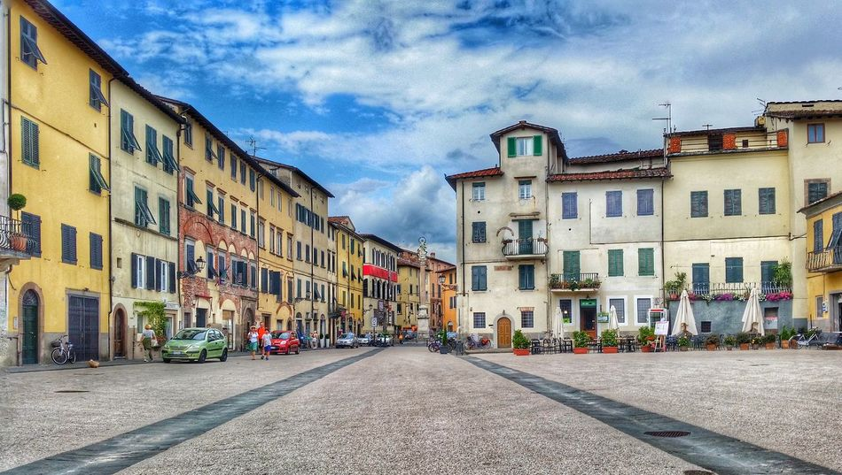 A square in the city of Lucca Lucca HDR City Square Italiancity Tuscany Panoramic Urban Smartphone Smartphonephotography