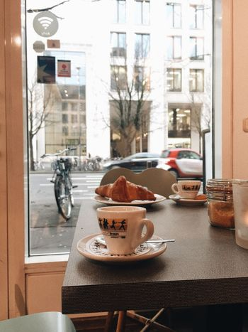 Frankfurt Am Main Table Window Food And Drink Architecture Built Structure Food Indoors  Cafe Day Building Exterior Chair Plate No People Close-up Freshness City Ready-to-eat