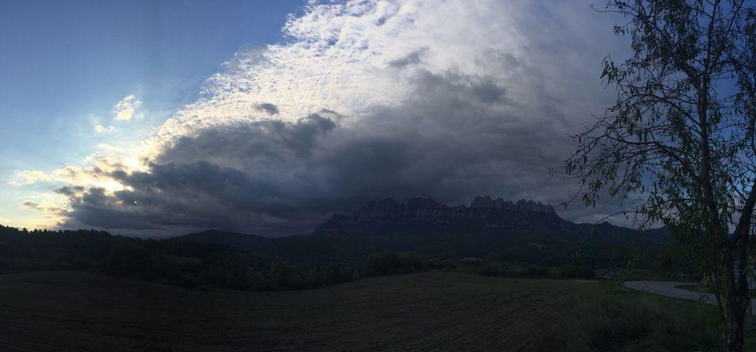 Cloud - Sky Mountain Montserrat Lanscape