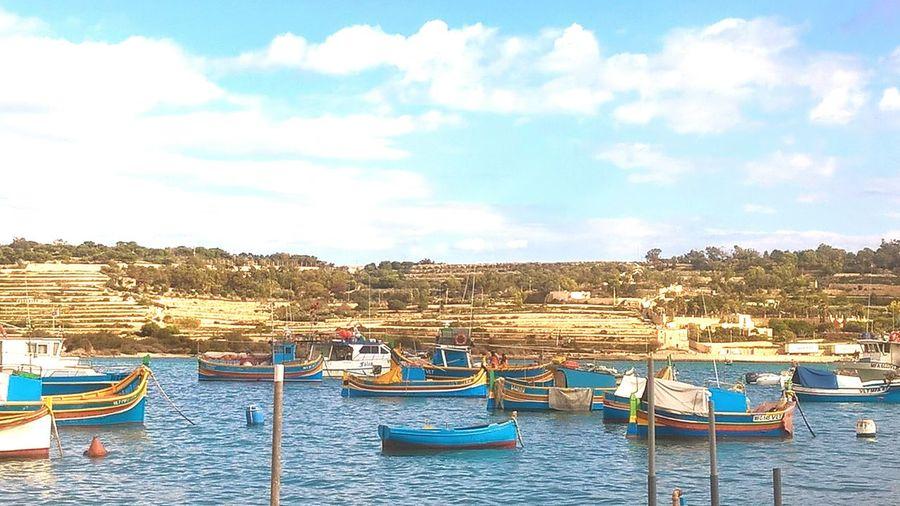 Mediterranean in Malta Moored Water Sea Mode Of Transport No People